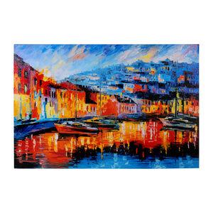An evening in Amalfi Framed Canvas Print