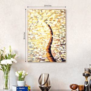 Yellow Tree of Life Stretched Canvas Print