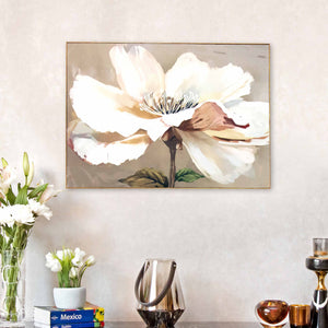 Beautiful Flower Framed Canvas Print