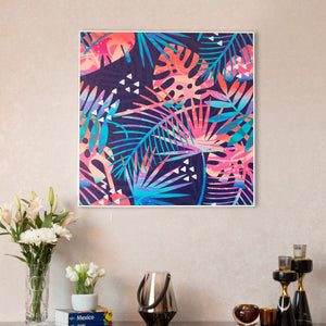 A symphony of Leaves Framed Canvas Print