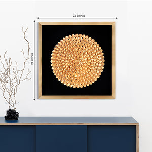 The Golden Dahlia Shadow Box Wall Decoration Piece