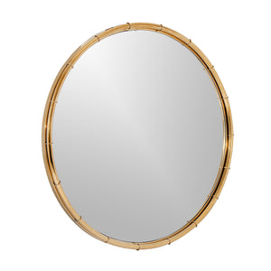 The Golden Ribbed Decorative Wall Mirror