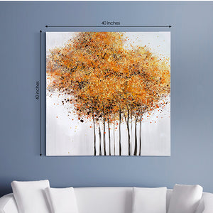 Hand painted wall art with yellow texture | Dekor Company