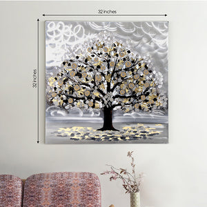 Weathering the Storm Tree of Life 100% Hand Painted Wall Painting