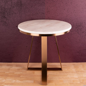 The Three Legged Rose Gold Accent Table
