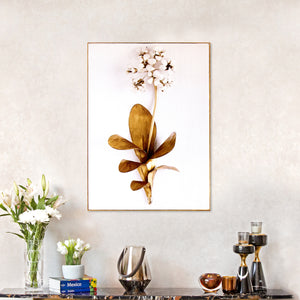 Printed Golden Leaf Framed Canvas Wall Print