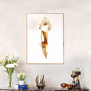 Printed Golden Leaf Story Framed Canvas Print
