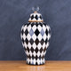 The London Checker Board Ceramic Decorative Vase - Big