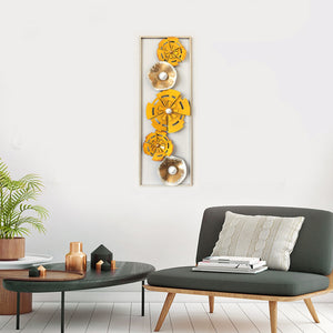 The Solar Chakra Metallic Wall Art Frame