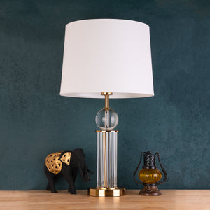 The Crystal Ball Stainless Steel Decorative Table Lamp