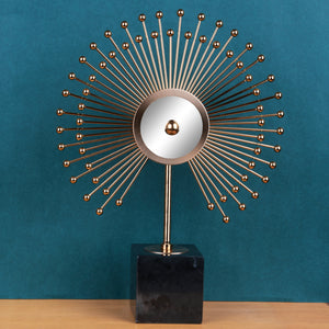 The Sun Burst Mirror Table Showpiece for Decoration