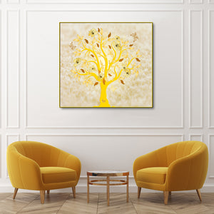 The Yellow Tree of Wisdom Framed Canvas Print