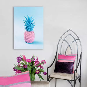 Retro Pineapple Framed Canvas Print