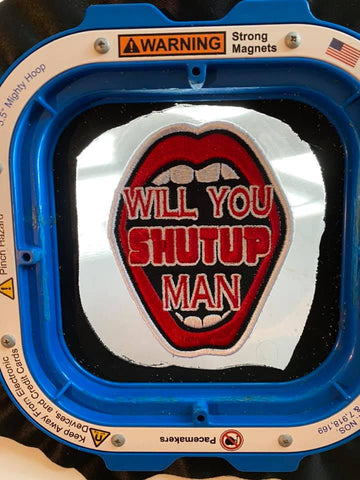 Will You Shut Up Man Biden Quote Embroidered Patch