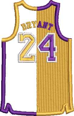 Corona virus face mask embroidery Kobe Bryant Split Right Jersey Embroidery File (2 Sizes)