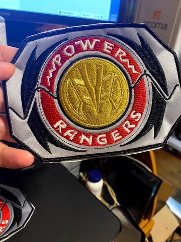 Corona virus face mask embroidery Mighty Morphin Power Rangers Morpher w/ Coin Embroidered Patch