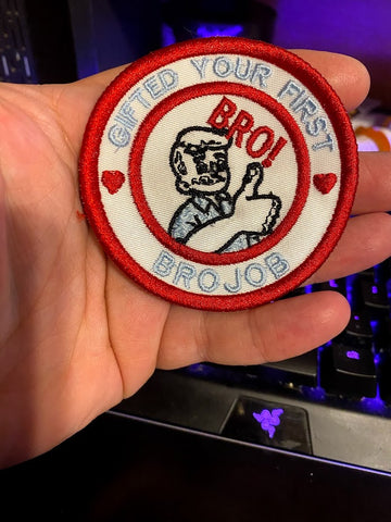 Corona virus face mask embroidery Gifted First Brojob Adult Merit Badge