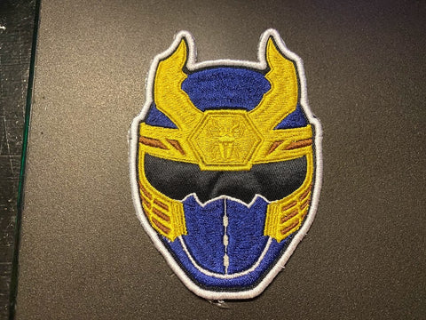 Power Rangers Ninja Storm Helmet Embroidered Patch