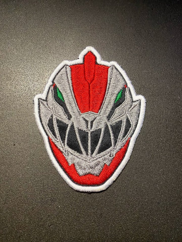 Power Rangers Dino Fury Helmet Embroidered Patch