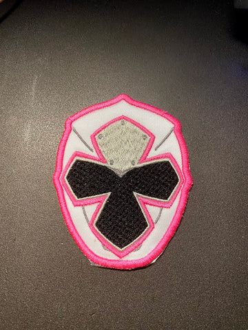 Power Rangers Ninja Steel Helmet Embroidered Patch