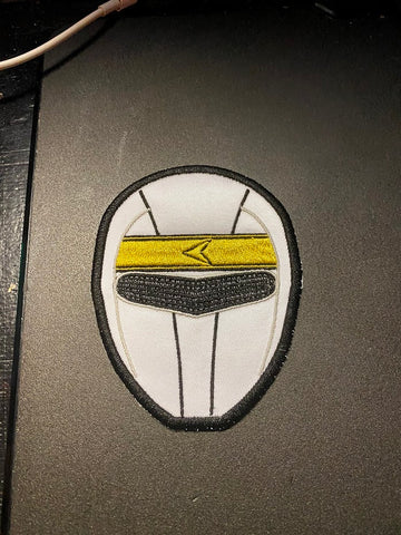 Power Rangers  Aquitar/Alien Rangers Helmet Embroidered Patch