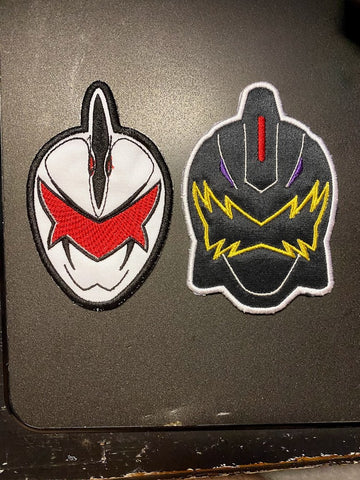Power Rangers Dino Thunder Helmet Embroidered Patch