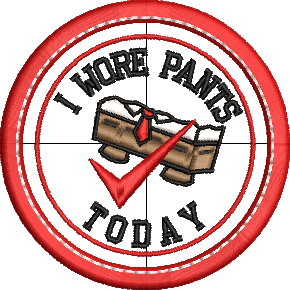 I Wore Pants Adult Merit Badges Embroidery File