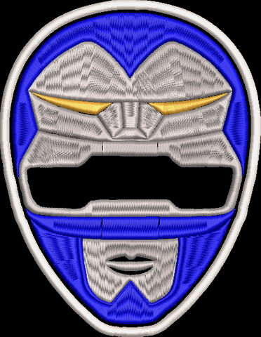 Power Rangers Lost Galaxy Helmet Embroidered Patch