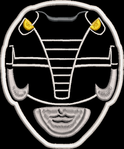 Mighty Morphin Power Rangers Helmet Embroidered Patch