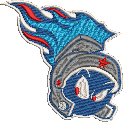 Corona virus face mask embroidery Tennessee Martians (Titans) Parody Embroidery Design (2 Sizes!)