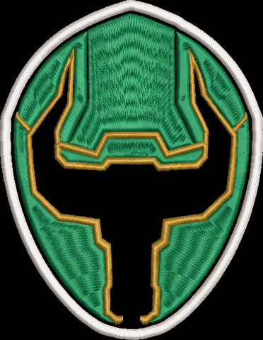 Power Rangers Mystic Force Helmet Embroidered Patch
