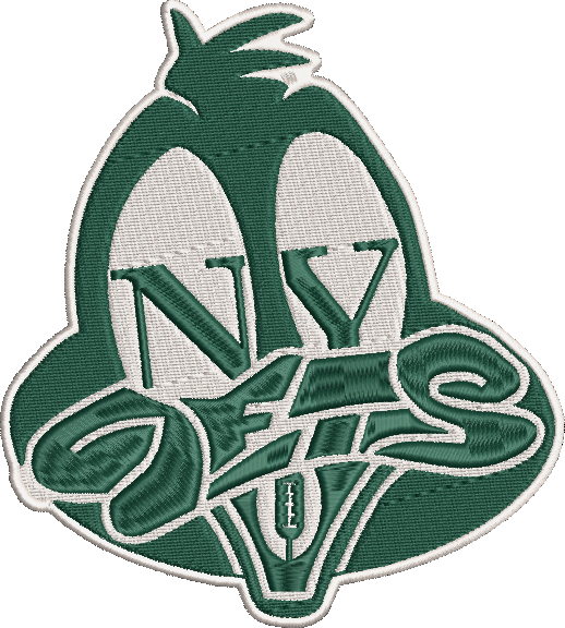 Corona virus face mask embroidery NY Plucky Ducks (Jets Inspired) Parody Embroidery Design 3 Sizes!