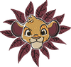 Corona virus face mask embroidery Simba Flowers Digitial Embroidery File (2 Sizes)