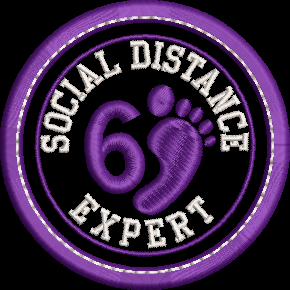 Social Distance Expert Adult Merit Badge Embroidery File