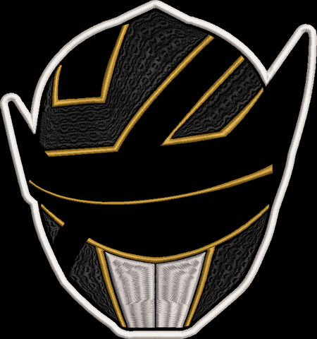 Power Rangers Solar Rangers Helmet Embroidered Patch