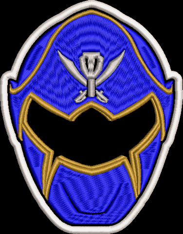 Power Rangers Super Megaforce Helmet Embroidered Patch