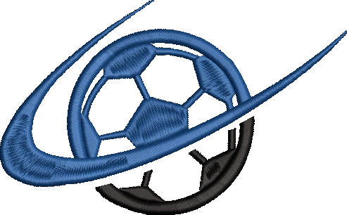 Corona virus face mask embroidery Swoosh Soccer ball Embroidery Design File (2 Sizes)