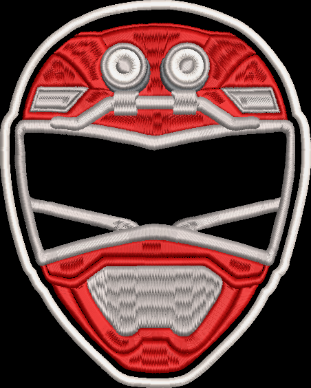 Power Rangers Turbo Helmet Embroidered Patch