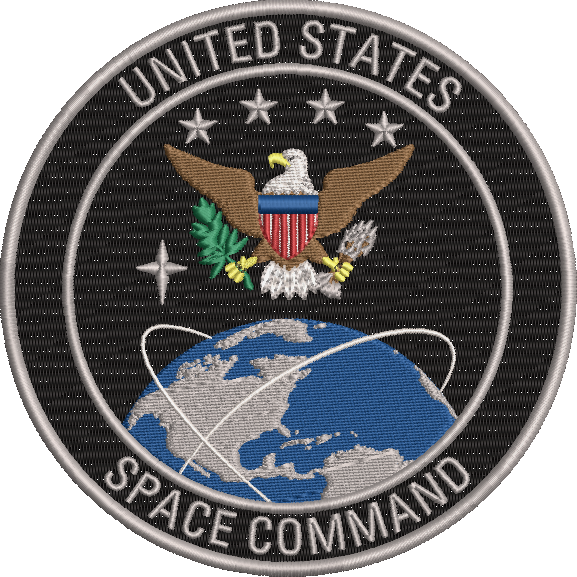 Corona virus face mask embroidery US Space Command Original Patch Design
