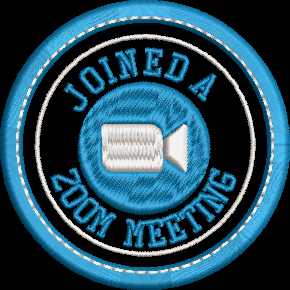 100 Zoom Meeting Adult Merit Badge Embroidery File (2 Designs)