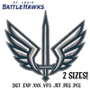 St. Louis Battlehawks XFL Embroidery Design File