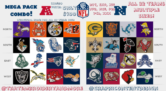 Corona virus face mask embroidery NFL x Looney Tunes Embroidery Files (All Teams and Sizes!)