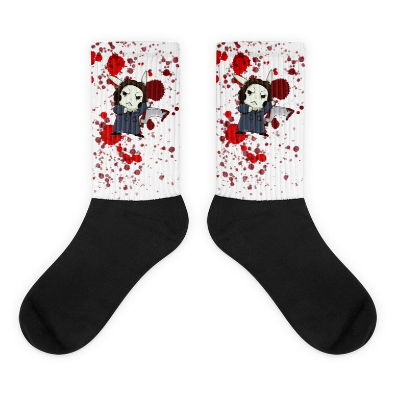 Corona virus face mask embroidery Horror Movie Mon Pikachu x Mike Meyers Socks