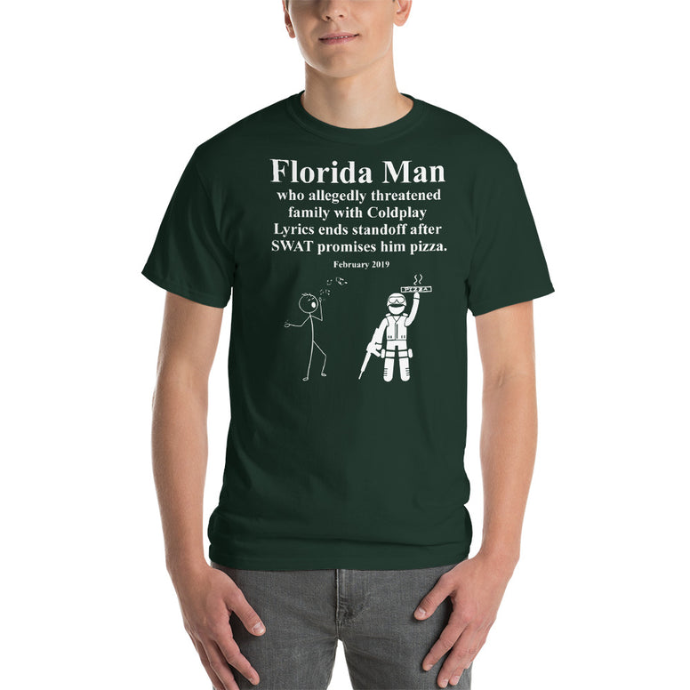 Corona virus face mask embroidery Florida Man February 2018 Gildan 2000 Ultra Cotton T-Shirt