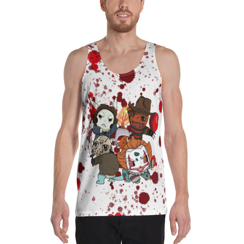 Corona virus face mask embroidery Bloody Night. HorrorMovie'Mon All-Over Print Men's Tank Top
