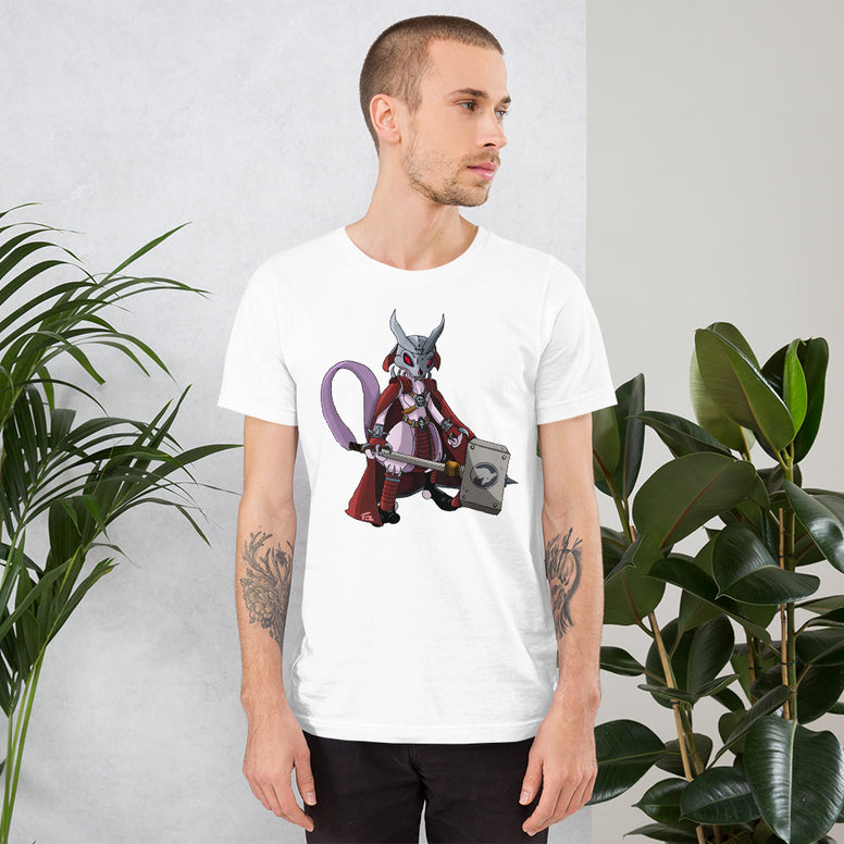 Corona virus face mask embroidery Shao Khan x MewTwo PokeKombat Short-Sleeve Unisex T-Shirt
