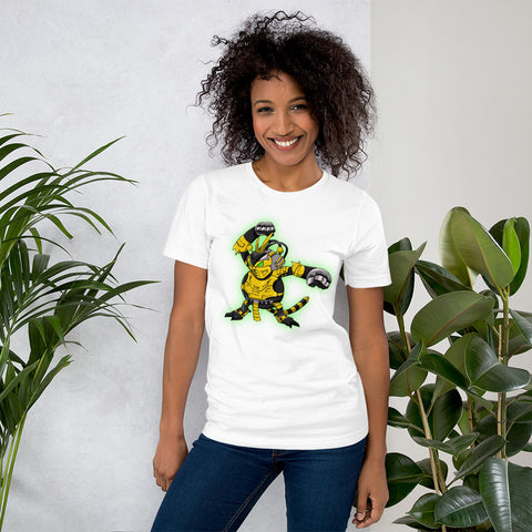 Corona virus face mask embroidery PokeKombat: Cyrax x Electabuzz Short-Sleeve Unisex T-Shirt