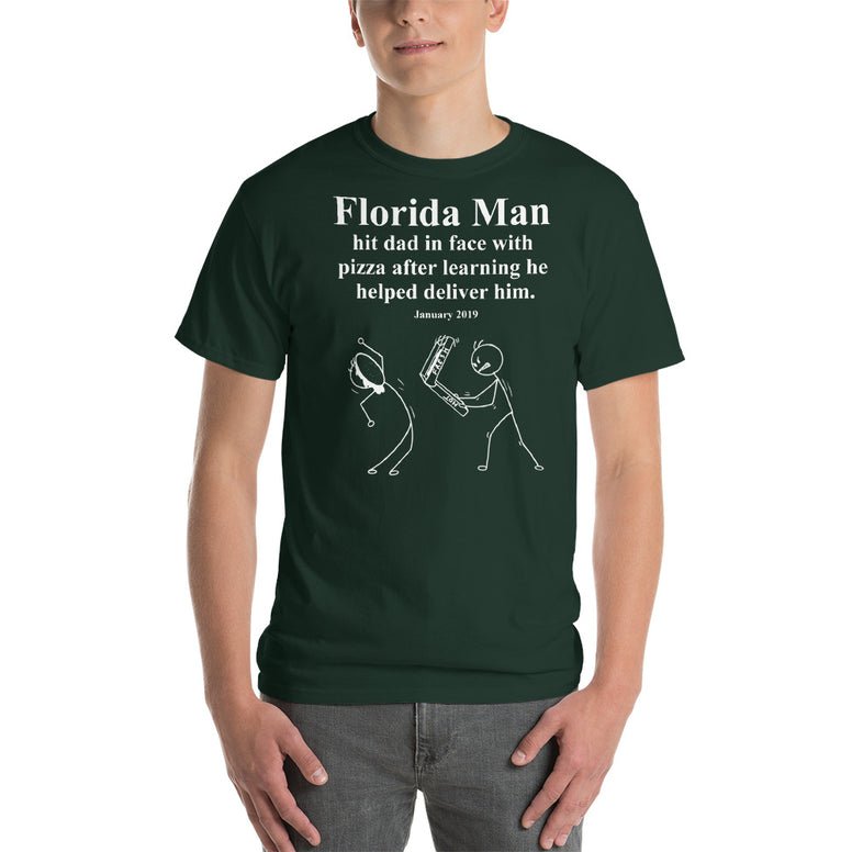 Corona virus face mask embroidery Florida Man January 2018 Gildan 2000 Ultra Cotton T-Shirt