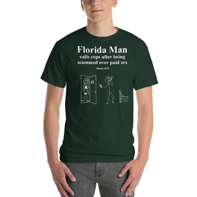 Corona virus face mask embroidery Florida Man March 2019 Gildan 2000 Ultra Cotton T-Shirt