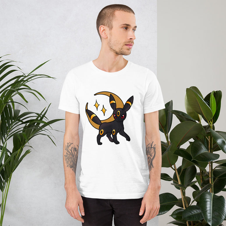 Corona virus face mask embroidery Umbreon American Traditional Short-Sleeve Unisex T-Shirt